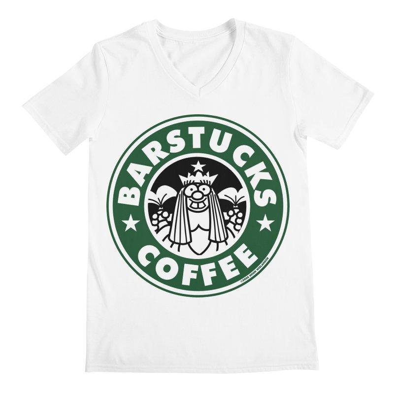 Barstucks Coffee Men's Regular V-Neck by wislander's Artist Shop
