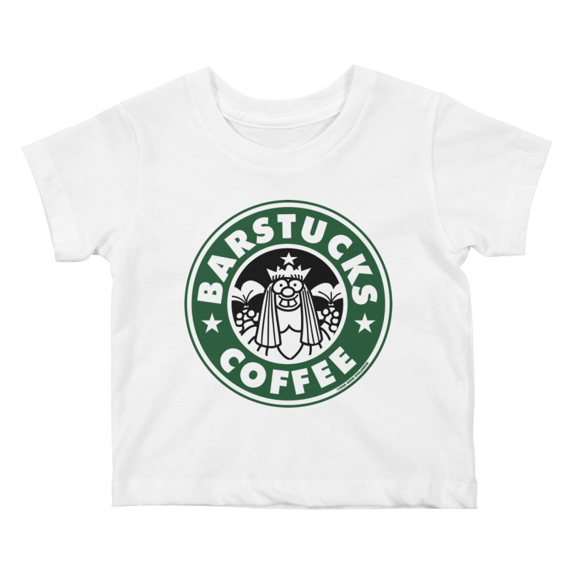 Barstucks Coffee Kids Baby T-Shirt by wislander's Artist Shop