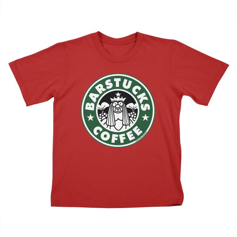 Barstucks Coffee Kids T-shirt by wislander's Artist Shop