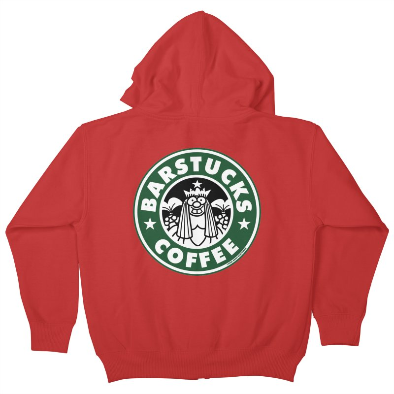 Barstucks Coffee Kids Zip-Up Hoody by wislander's Artist Shop