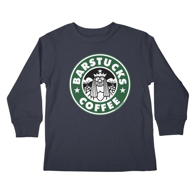 Barstucks Coffee Kids Longsleeve T-Shirt by wislander's Artist Shop