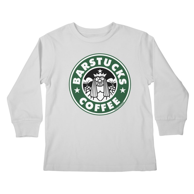 Barstucks Coffee Kids Longsleeve T-Shirt by wislander's Artist Shop