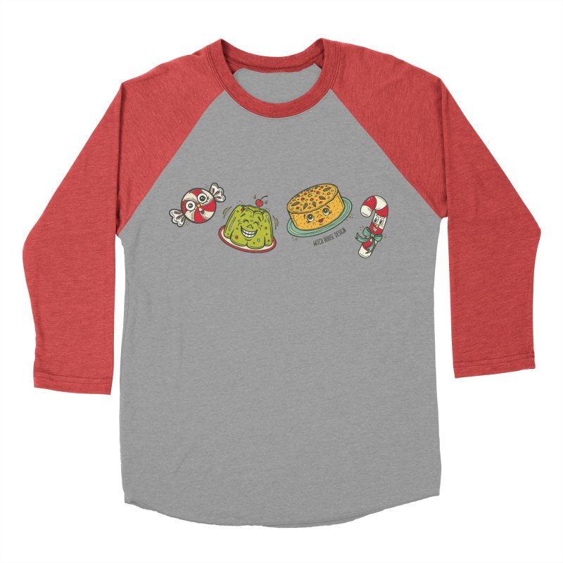 Holiday Treats Men's Baseball Triblend Longsleeve T-Shirt by Witch House Design