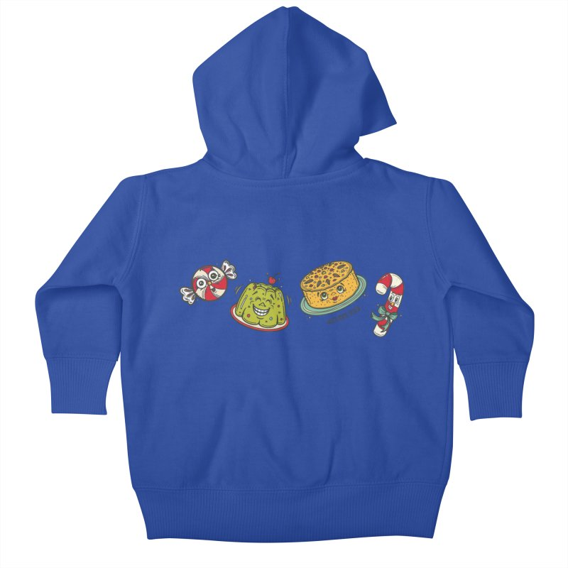 Holiday Treats Kids Baby Zip-Up Hoody by Witch House Design