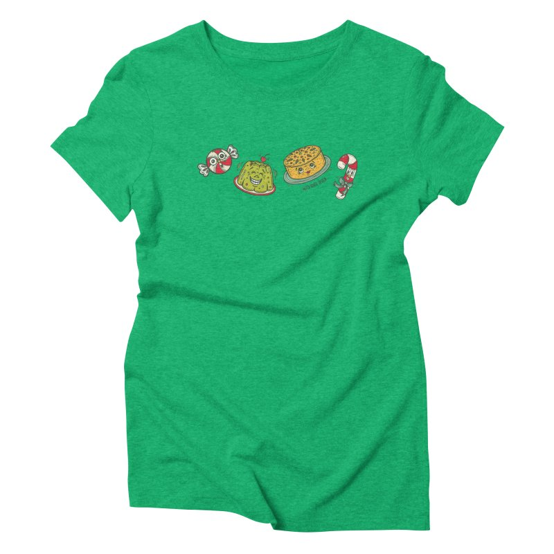 Holiday Treats Women's Triblend T-Shirt by Witch House Design