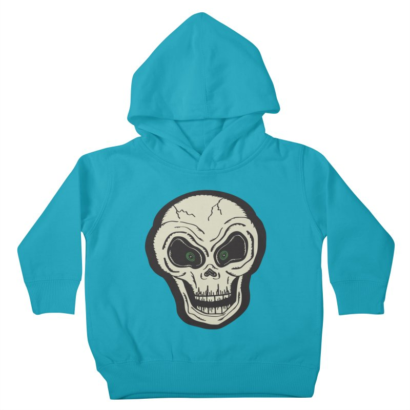 Skull | Full Color Kids Toddler Pullover Hoody by Witch House Design