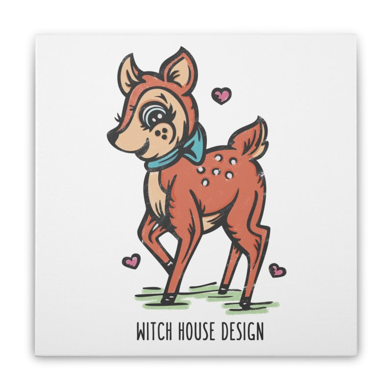 "You're ""Deer"" to Me! Home Stretched Canvas by Witch House Design"