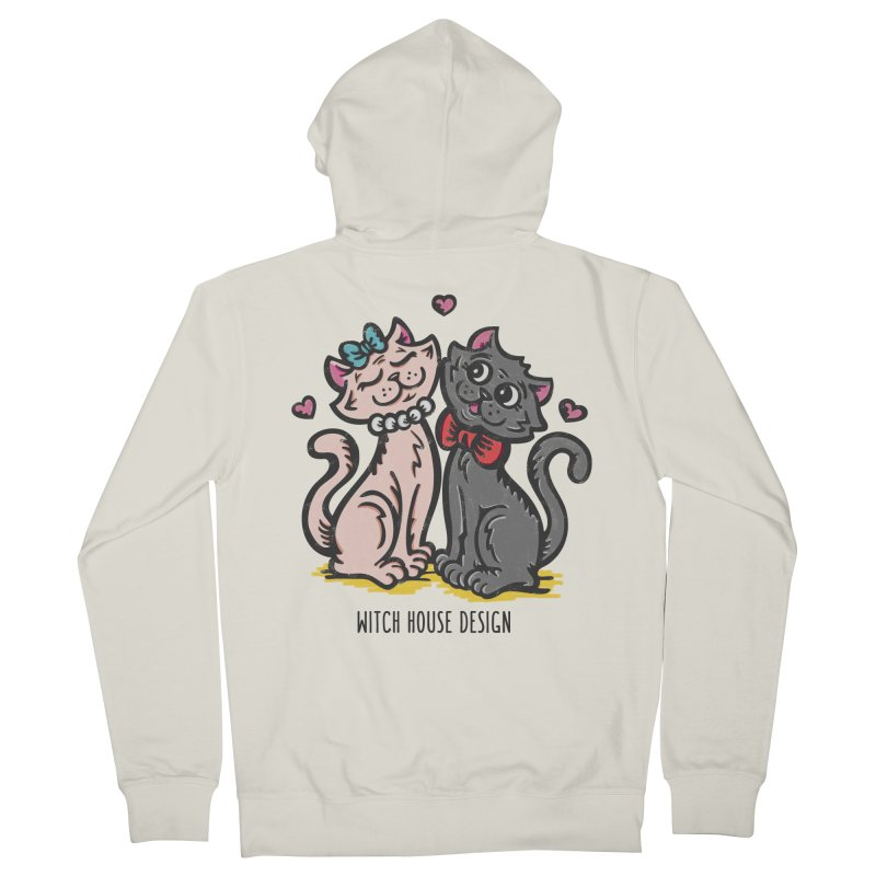 "You're the Cat's ""Meow!"" Women's French Terry Zip-Up Hoody by Witch House Design"