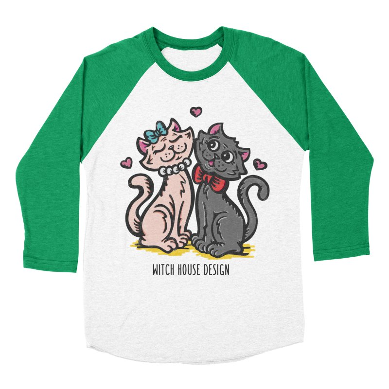 """You're the Cat's """"Meow!"""" Men's Baseball Triblend Longsleeve T-Shirt by Witch House Design"""