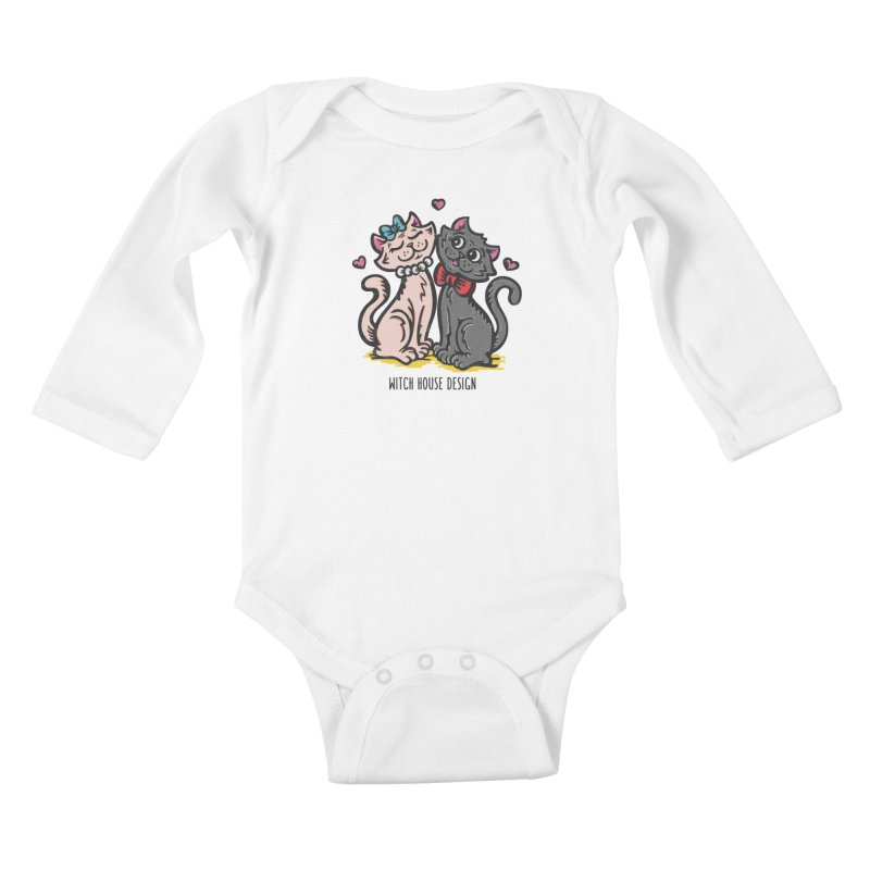 """You're the Cat's """"Meow!"""" Kids Baby Longsleeve Bodysuit by Witch House Design"""