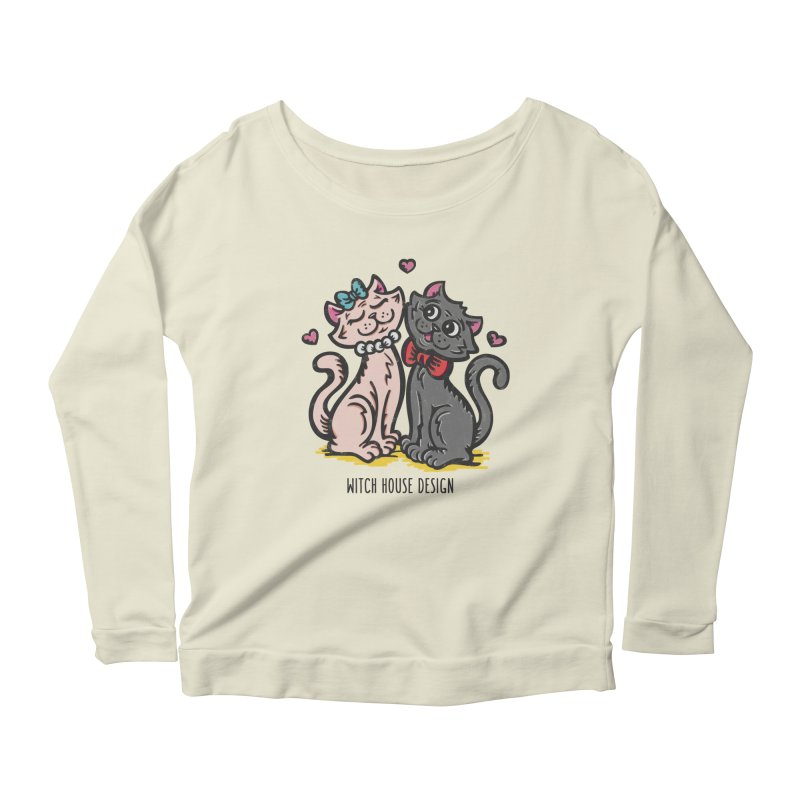 """You're the Cat's """"Meow!"""" Women's Scoop Neck Longsleeve T-Shirt by Witch House Design"""