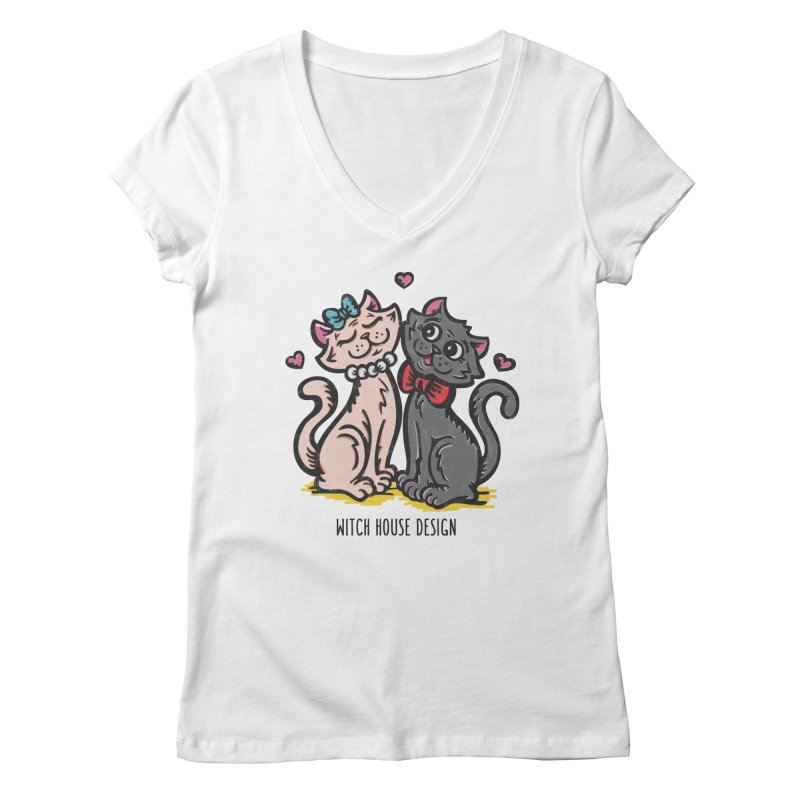 "You're the Cat's ""Meow!"" Women's Regular V-Neck by Witch House Design"