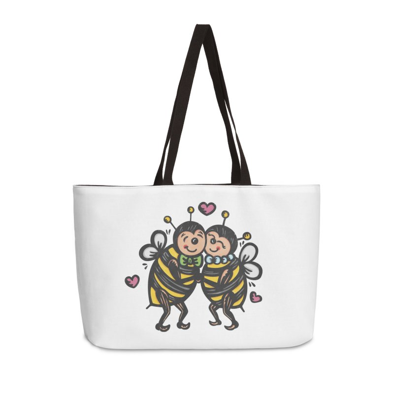 "Won't You ""Bee"" My Honey? Accessories Weekender Bag Bag by Witch House Design"