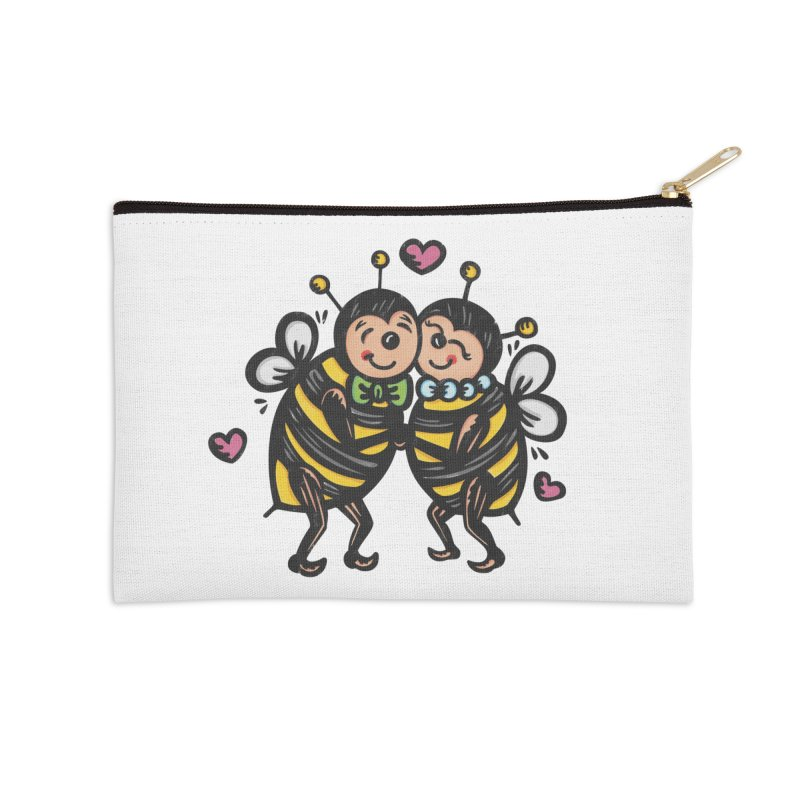 "Won't You ""Bee"" My Honey? Accessories Zip Pouch by Witch House Design"