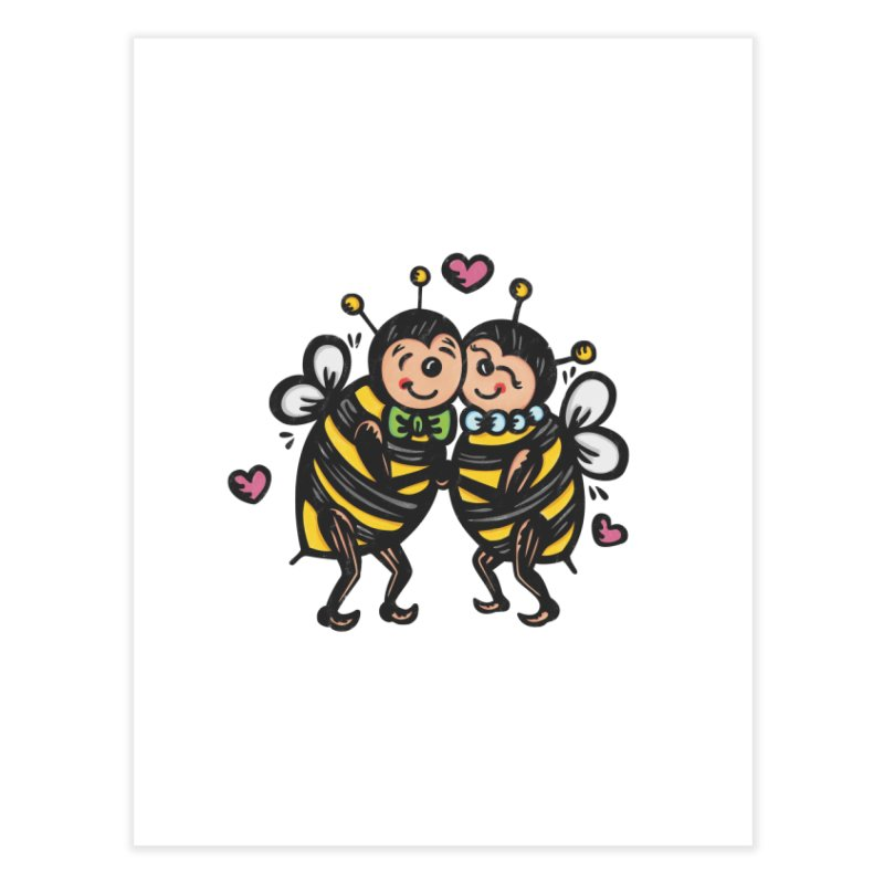 "Won't You ""Bee"" My Honey? Home Fine Art Print by Witch House Design"