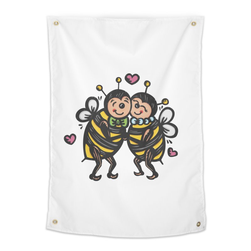 "Won't You ""Bee"" My Honey? Home Tapestry by Witch House Design"