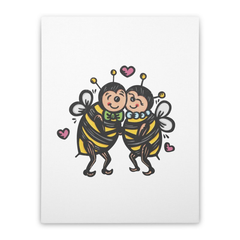 "Won't You ""Bee"" My Honey? Home Stretched Canvas by Witch House Design"