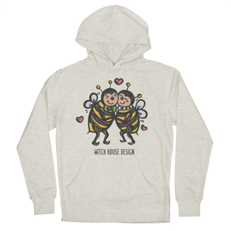 "Won't You ""Bee"" My Honey? Men's French Terry Pullover Hoody by Witch House Design"