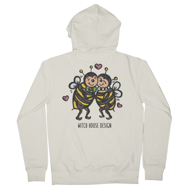 "Won't You ""Bee"" My Honey? Men's French Terry Zip-Up Hoody by Witch House Design"