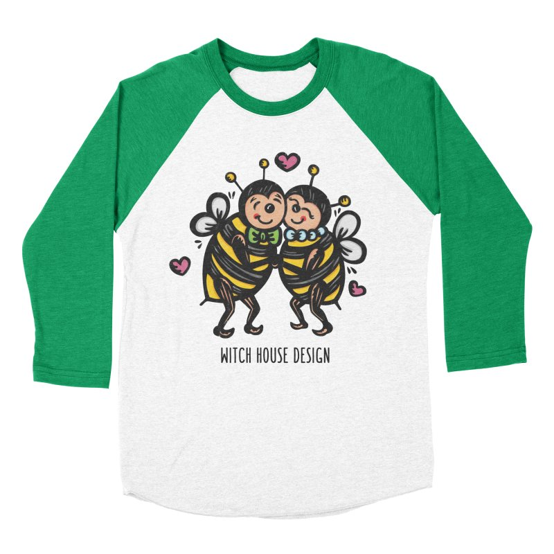 "Won't You ""Bee"" My Honey? Women's Baseball Triblend Longsleeve T-Shirt by Witch House Design"