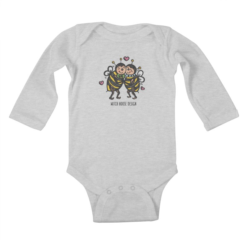 "Won't You ""Bee"" My Honey? Kids Baby Longsleeve Bodysuit by Witch House Design"