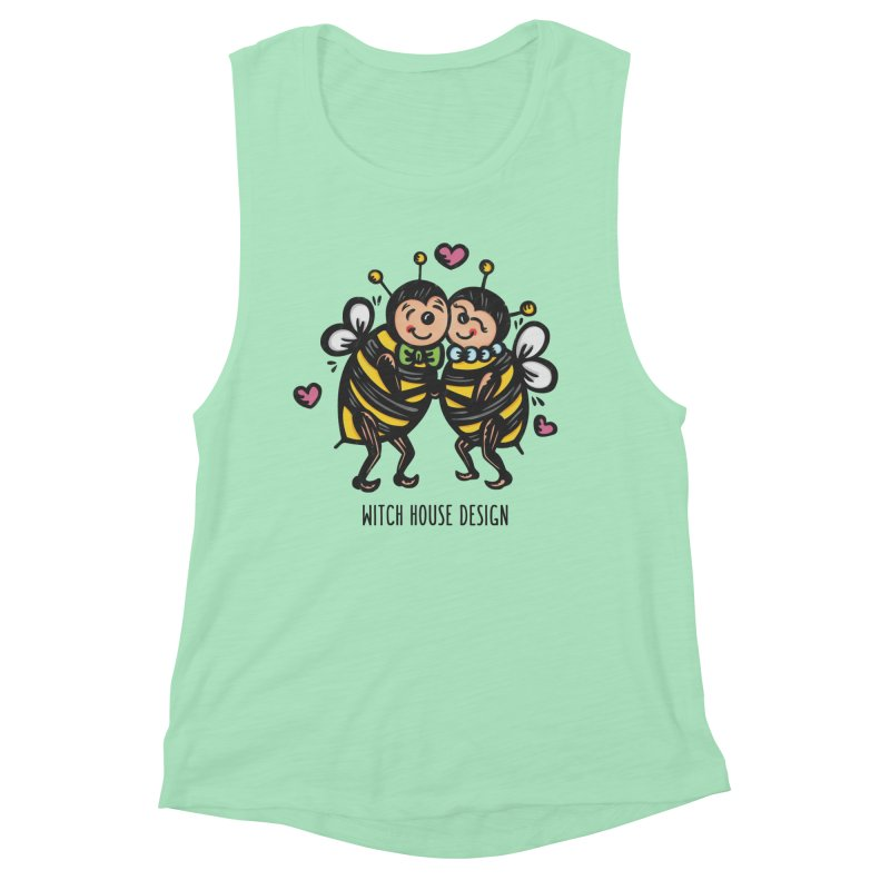 """Won't You """"Bee"""" My Honey? Women's Muscle Tank by Witch House Design"""