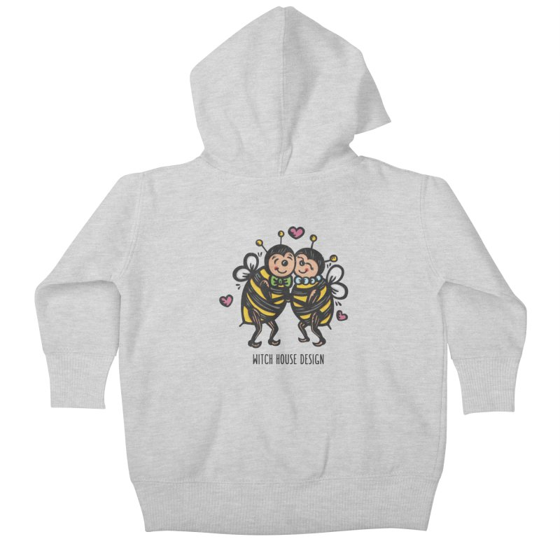 "Won't You ""Bee"" My Honey? Kids Baby Zip-Up Hoody by Witch House Design"