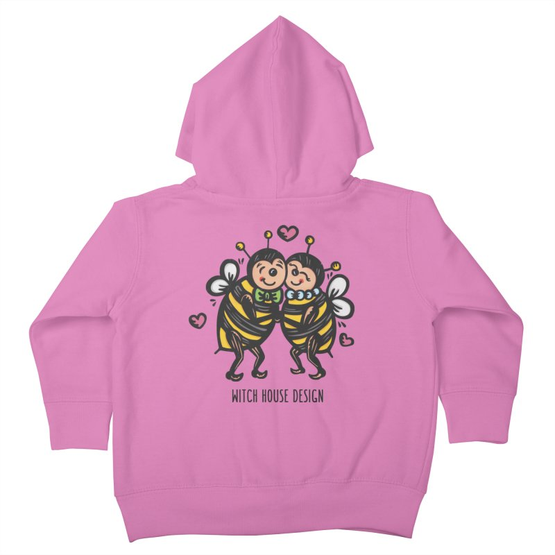 "Won't You ""Bee"" My Honey? Kids Toddler Zip-Up Hoody by Witch House Design"