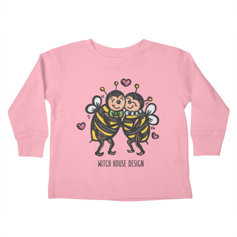 """Won't You """"Bee"""" My Honey? Kids Toddler Longsleeve T-Shirt by Witch House Design"""