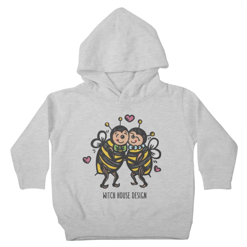"""Won't You """"Bee"""" My Honey? Kids Toddler Pullover Hoody by Witch House Design"""