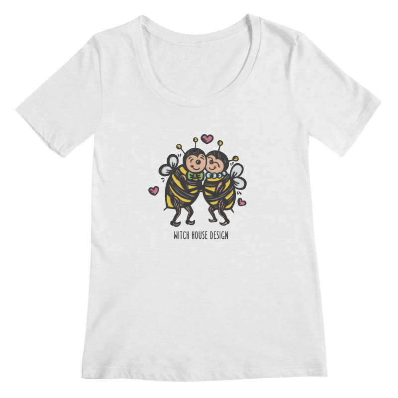 "Won't You ""Bee"" My Honey? Women's Regular Scoop Neck by Witch House Design"