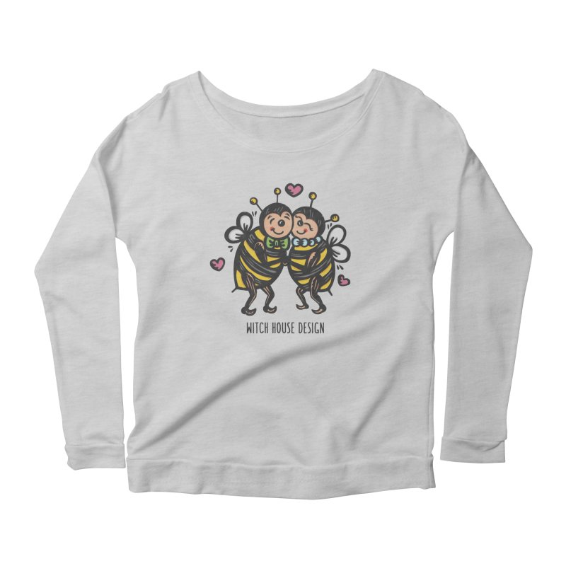 """Won't You """"Bee"""" My Honey? Women's Scoop Neck Longsleeve T-Shirt by Witch House Design"""