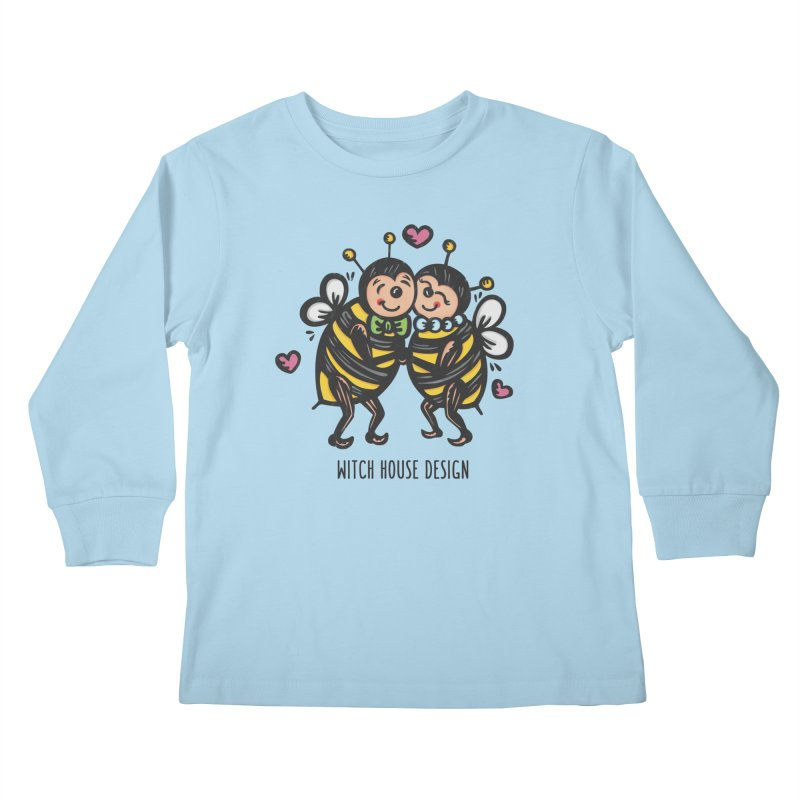 """Won't You """"Bee"""" My Honey? Kids Longsleeve T-Shirt by Witch House Design"""