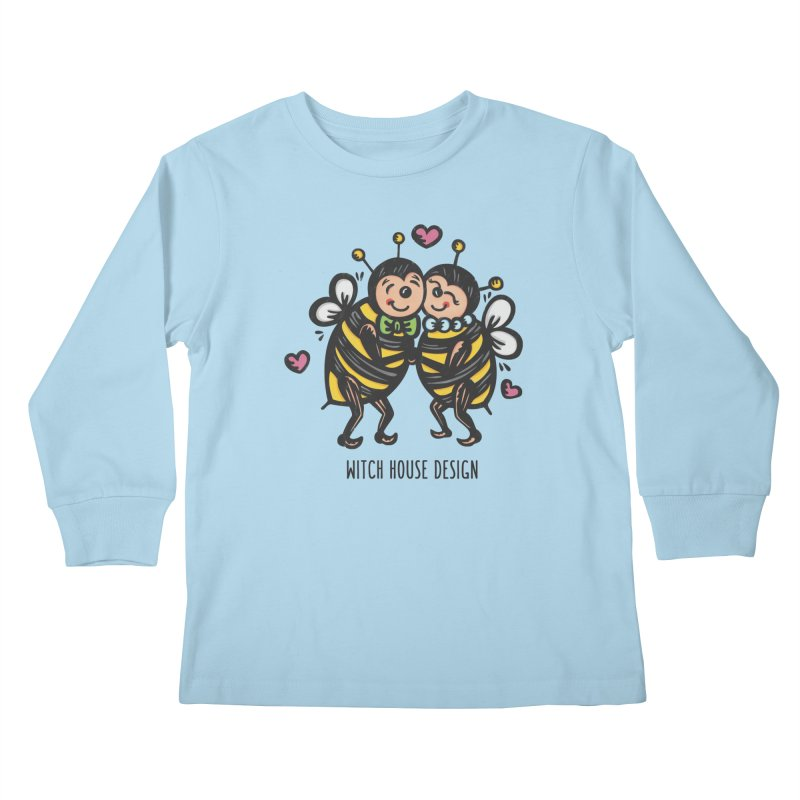 "Won't You ""Bee"" My Honey? Kids Longsleeve T-Shirt by Witch House Design"