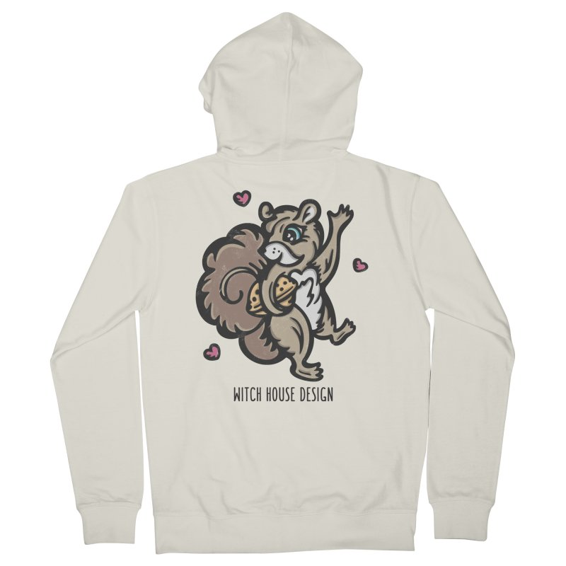 "I'm ""Nuts"" About You! Men's French Terry Zip-Up Hoody by Witch House Design"