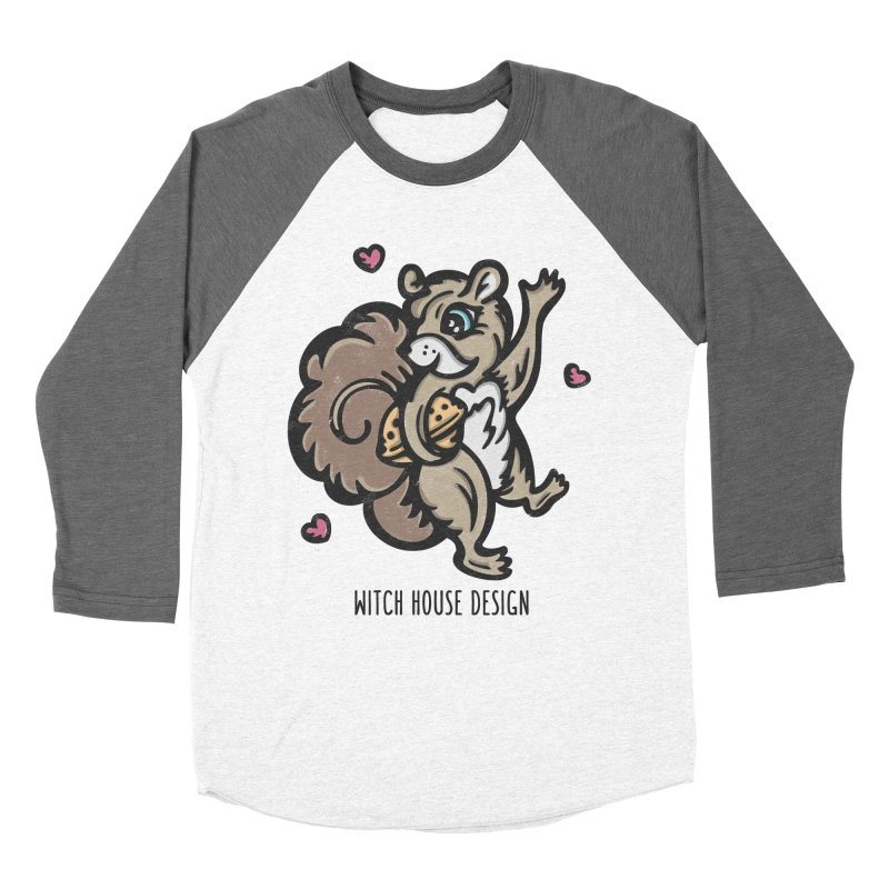 "I'm ""Nuts"" About You! Women's Baseball Triblend Longsleeve T-Shirt by Witch House Design"