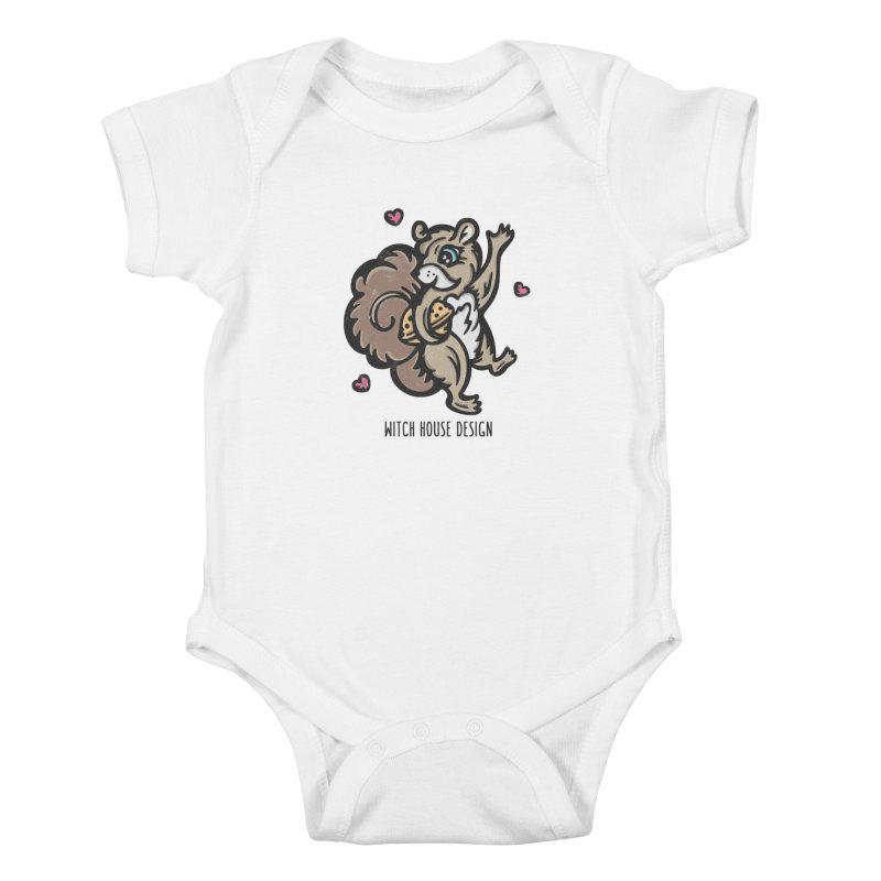 """I'm """"Nuts"""" About You! Kids Baby Bodysuit by Witch House Design"""
