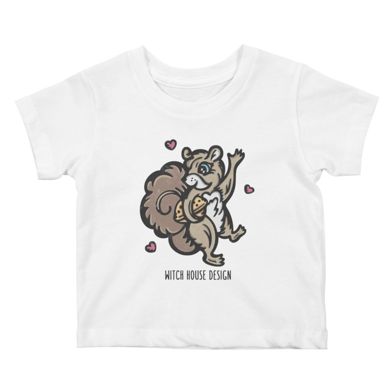 "I'm ""Nuts"" About You! Kids Baby T-Shirt by Witch House Design"