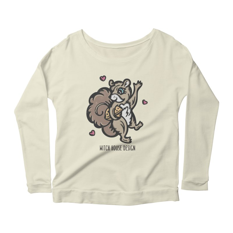 """I'm """"Nuts"""" About You! Women's Scoop Neck Longsleeve T-Shirt by Witch House Design"""