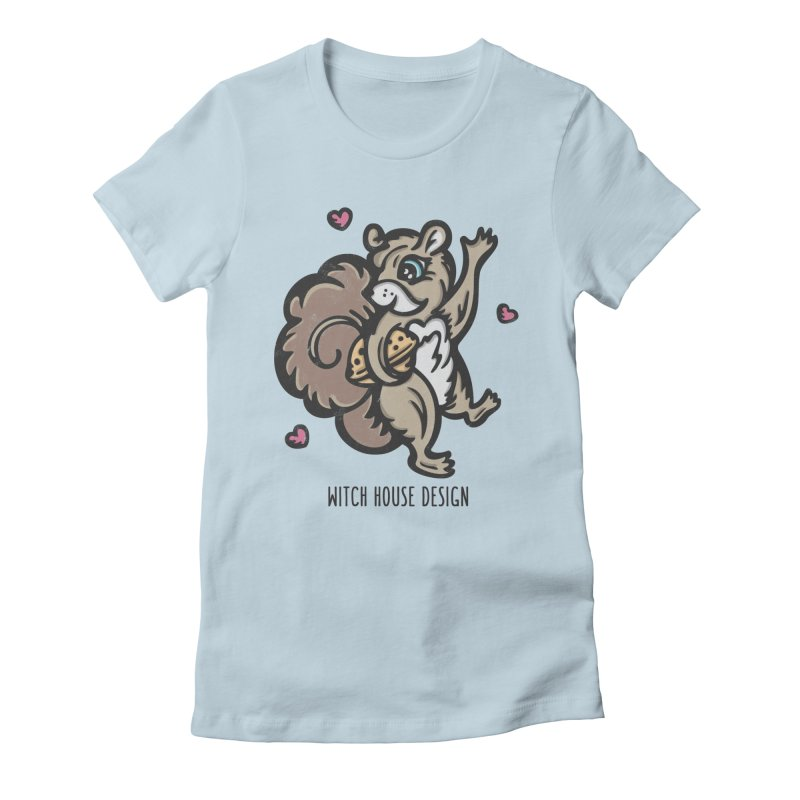 """I'm """"Nuts"""" About You! Women's Fitted T-Shirt by Witch House Design"""