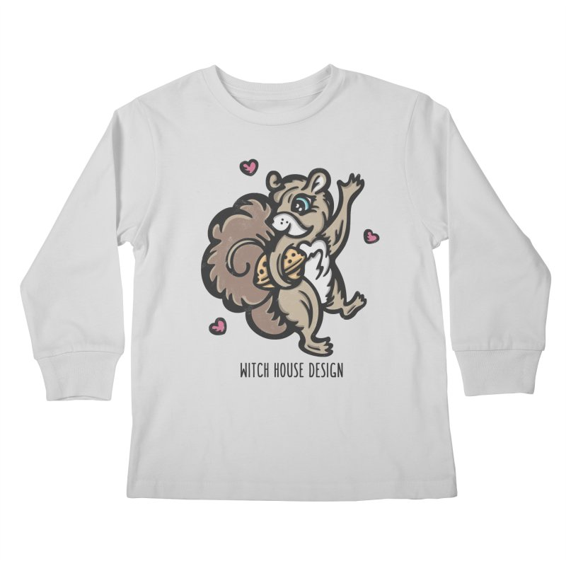"""I'm """"Nuts"""" About You! Kids Longsleeve T-Shirt by Witch House Design"""