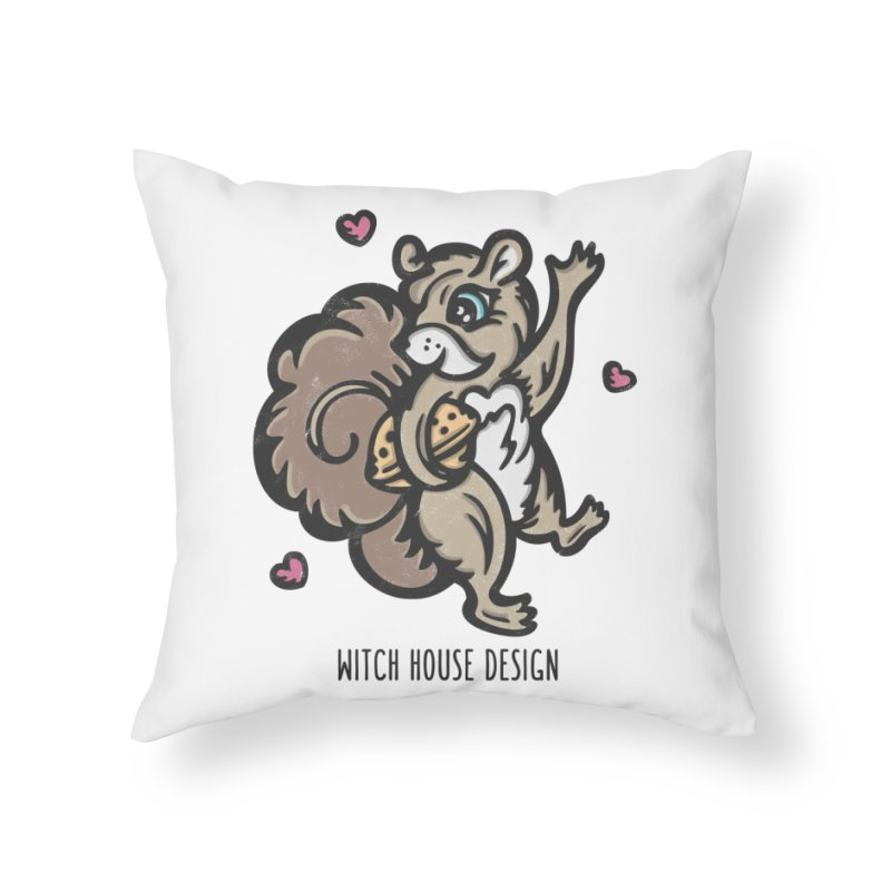 "I'm ""Nuts"" About You! Home Throw Pillow by Witch House Design"