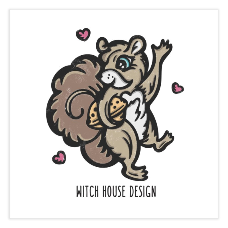 "I'm ""Nuts"" About You! Home Fine Art Print by Witch House Design"