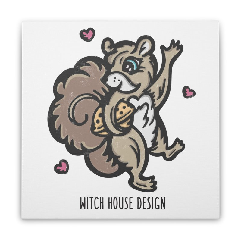 "I'm ""Nuts"" About You! Home Stretched Canvas by Witch House Design"