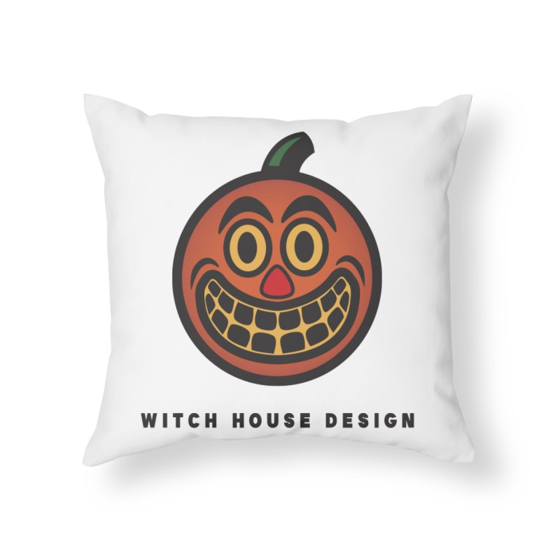 Jack O' Lantern Home Throw Pillow by Witch House Design