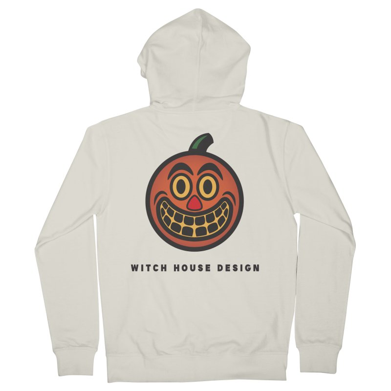 Jack O' Lantern Women's French Terry Zip-Up Hoody by Witch House Design