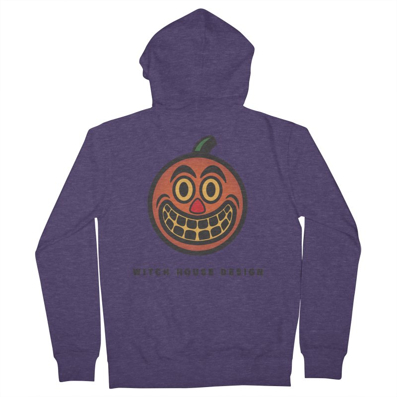 Jack O' Lantern Men's French Terry Zip-Up Hoody by Witch House Design