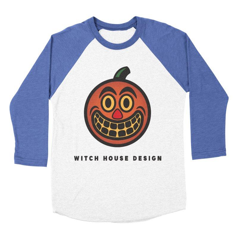 Jack O' Lantern Men's Baseball Triblend Longsleeve T-Shirt by Witch House Design