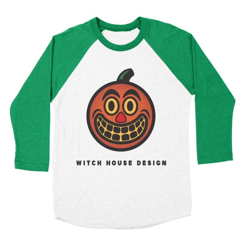 Jack O' Lantern Men's Baseball Triblend Longsleeve T-Shirt by Witch House Design