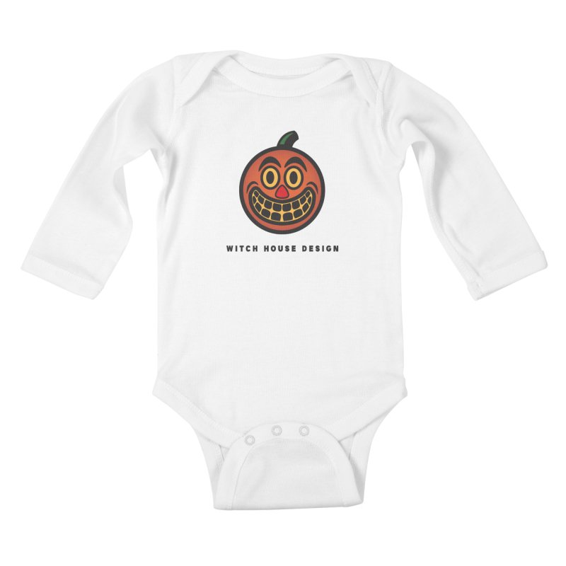 Jack O' Lantern Kids Baby Longsleeve Bodysuit by Witch House Design